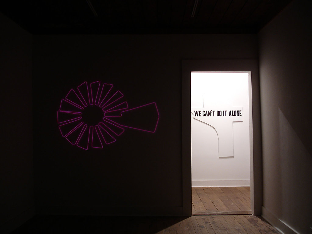 Frames the wind and Family (installation image)